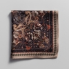 Men's Accessories Brown paisley pocket square