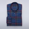 Men's Tops Checked dress shirt in blue and red