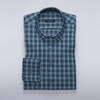 Men's Tops Checked dress shirt in navy/green