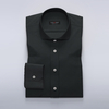 Light business shirt in charcoal dobby weave