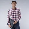 Men's Clothing Red and White Checked Shirt
