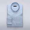 Men's Tops TMF - Light blue shirt in cotton-Tencel twill fabric