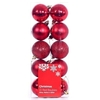 10 Pack Christmas Tree Baubles 6cm Red