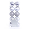 10 Pack Christmas Tree Baubles 6cm Silver