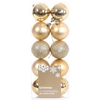 10 Pack of Baubles (6cm) - Gold