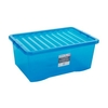 45L Wham Crystal Stacking Plastic Storage Blue Box & Clip Lid