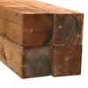 Brown Square Fence Post Sawn Flat Top H210cm W10cm