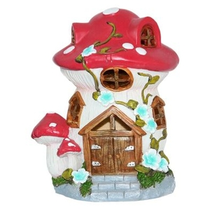 Magical Garden Solar Woodland Mushroom - Brown Door