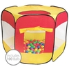 Multi-Coloured Pop Up Ball Pit Play Tent 100 Balls