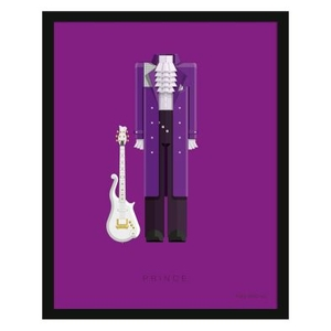 Music Legends Prince Suit Framed Print Wall Art 14 x 11 Inch