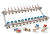 Underfloor Heating Manifold - 12 Port - Includes Fitting Accessories