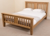 Boston 4ft6 Double Bed Frame with Memory Foam Mattress
