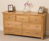 Boston Solid Oak 7 Drawer Chest