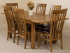 Cotswold Rustic 132-198cm Extending Dining Table & 6 Harvard Rustic Solid Oak Chairs
