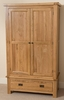 Cottage Light Solid Oak Double Wardrobe