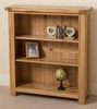 Cottage Light Solid Oak Small Bookcase