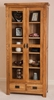 Farmhouse Rustic Glass Display Cabinet