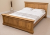 French 5ft Kingsize Bed Frame with Memory Foam Mattress