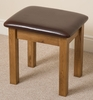 French Chateau Rusitc Solid Oak Dressing Table Stool
