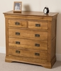 French Chateau Rustic Solid Oak 2+3 Chest