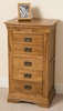 French Chateau Rustic Solid Oak 5 Drawer Chest