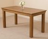 French Chateau Rustic Solid Oak 5ft Dining Table