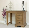 French Chateau Rustic Solid Oak Dressing Table