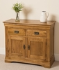 Furniture French Chateau Rustic Solid Oak Small Sideboard