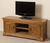 Furniture French Chateau Rustic Solid Oak Widescreen TV Unit