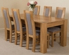Kuba Solid Oak Dining Table & 6 Stanford Solid Oak Fabric Chairs