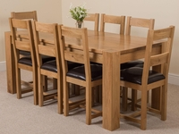 Furniture  - Kuba Solid Oak Dining Table & 8 Lincoln Chairs