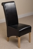 Montana Leather Dining Chair (Black)