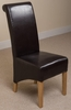 Montana Leather Dining Chair (Brown)