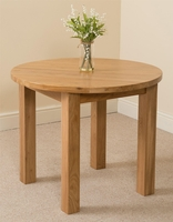 Furniture  - Portland Oak 92cm Round Dining Table
