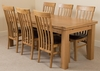 Richmond Oak 200 - 280 cm Extending Dining Table & 6 Harvard Solid Oak Leather Chairs