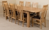 Richmond Oak 200 - 280 cm Extending Dining Table & 8 Princeton Solid Oak Leather Chairs