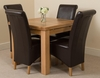 Richmond Oak 90 - 150 cm Extending Dining Table 4 Brown Montana Chairs