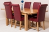 Seattle Extending Dining Table & 6 Burgundy Washington Leather Chairs