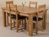 Tables  - Seattle Solid Oak Extending Dining Table & 4 Lincoln Oak Chairs