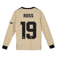 Football  - Manchester United Cup Away Shirt 2019 - 20 - Kids - Long Sleeve with Ross 19 printing