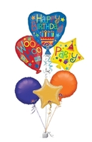 Birthday Gifts  - Birthday Balloons Cluster Birthday Bunch of Balloons Gift