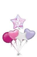 Birthday Gifts  - Birthday Shimmer Pink 50th Age Bunch of Balloons Gift
