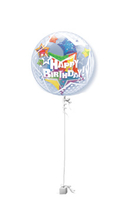 Birthday Gifts  - Birthday Stars Double Bubble Birthday Balloon Gift