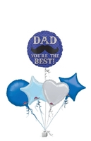 Other Occasions  - Dapper Dad Moustache Birthday Bunch of Balloons Gift
