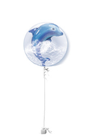 Other Occasions  - Dolphin Double Bubble Get Well Balloon Gift
