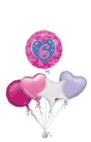 Birthday Gifts  - Flower Birthday 6 Age Bunch of Balloons Gift