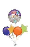Birthday Gifts  - Space Boy QR Code Birthday Bunch of Balloons Gift