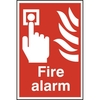 "ASEC ""Fire Alarm"" 200mm x 300mm PVC Self Adhesive Sign"