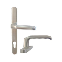 Home Security  - Hoppe 92mm PZ uPVC Door Rounded Handles - 241mm (215mm fixings)