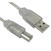 1m Transparent USB Cable A to B
